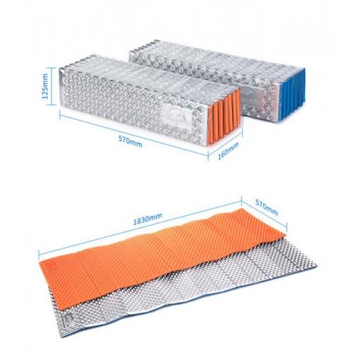 Туристический влагостойкий коврик Naturehike Egg Crate folding mat, Каремат складной, NH18D001-C