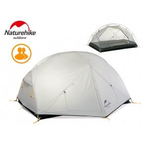 Двухместная палатка NatureHike Mongar 2 Ultralight, 20D, цвет grey, вес 2,1кг