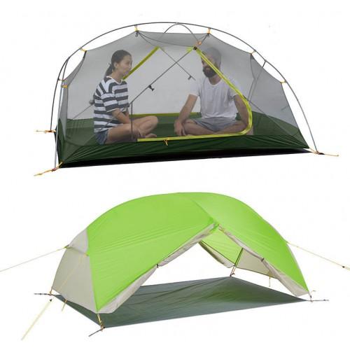 Палатки для походов и восхождений, Naturehike Mongar 2 Ultralight, 20D, вес 2,1кг