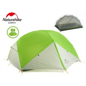 Двухместная палатка NatureHike Mongar 2 Ultralight, 20D, вес 2,1кг