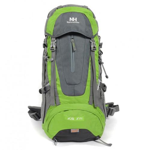 Туристический Рюкзак NatureHike Hike55L-B, цвет зеленый, 55л