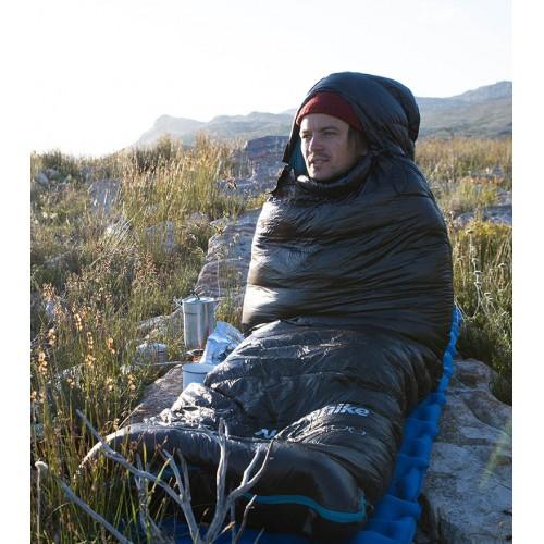 Пуховый спальник Naturehike CW400, NH18C400-D, цвет черный, +5-0°C, вес 930гр.