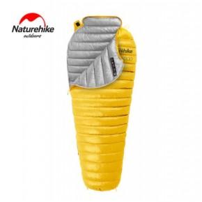 Спальник пуховый Naturehike CW300, желтый, +9°C+4°C, вес 630гр.