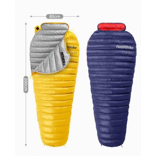 Пуховый спальник Naturehike CW300 NH18S300-D, navy, +9°C+4°C, вес 630гр.