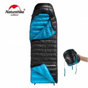 Спальник пуховый Naturehike CW400, черный, вес 930гр.