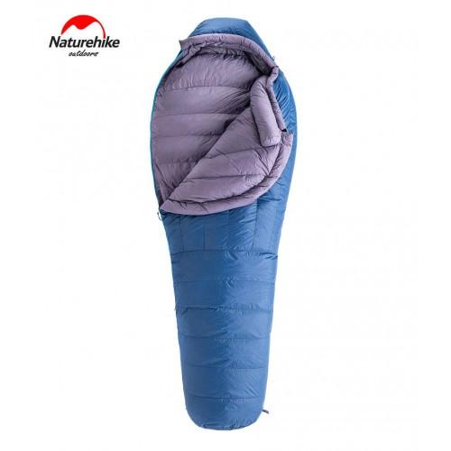 Пуховый спальник Naturehike ULG700, NH19YD001, цвет blue, -10-15°C, вес 1,2кг