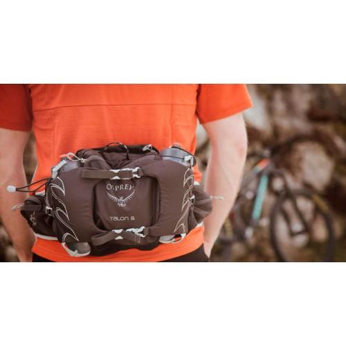 Сумка на пояс Osprey Talon 6 Lumbar, цвет черный, сумка для бега. Бутылки в комплект не входят.
