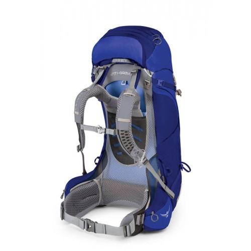 Рюкзак женский, Osprey Ariel AG 55, цвет Tidal Blue, Рюкзак для многодневных походов