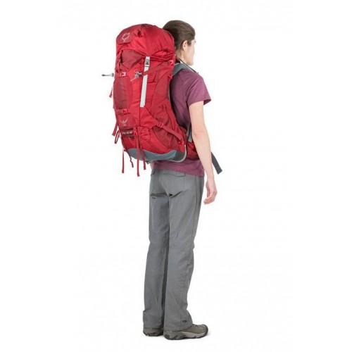 Рюкзак женский, Osprey Ariel AG 65, цвет Picante Red, рюкзак для многодневных походов