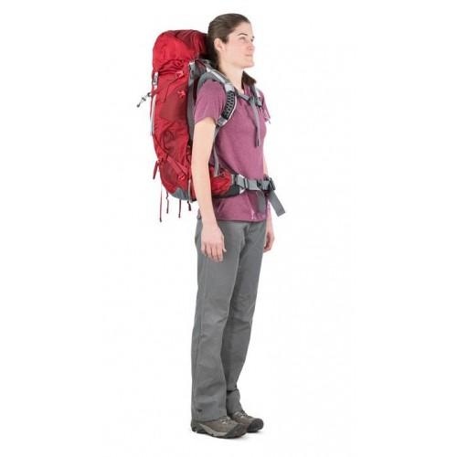 Рюкзак женский, Osprey Ariel AG 55, цвет Picante Red, Рюкзак для многодневных походов
