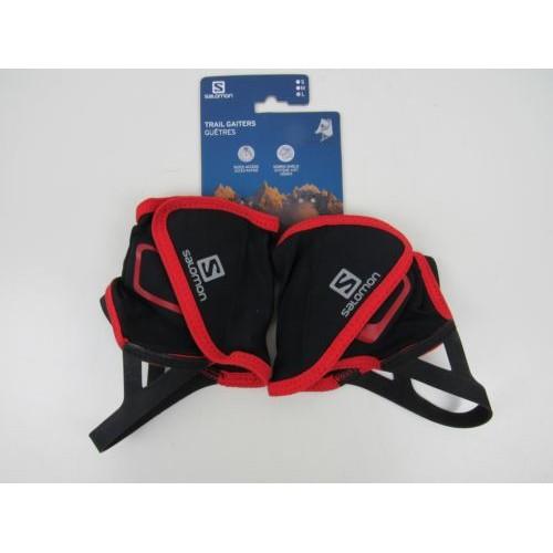 Гетры унисекс Salomon Trail Gaiters Low, цвет черный красный, размер M, гетры для бега купить