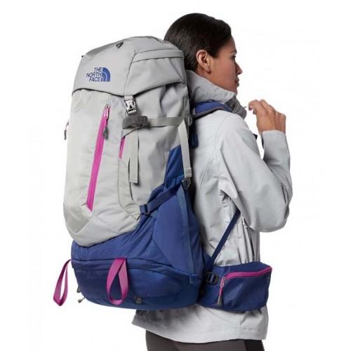 Туристический рюкзак The North Face Terra, объем 55л, цвет черный, рюкзак для треккинга и путешествий
