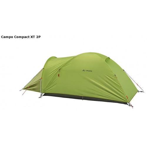 2-х местная палатка, Vaude Campo Compact XT 2P, цвет Chute Green, доставка по Казахстану