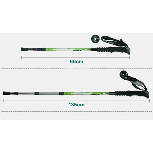 Телескопические палки, цвет зеленый, длина 65-135 см (пара), треккинговые палки купить в Алматы