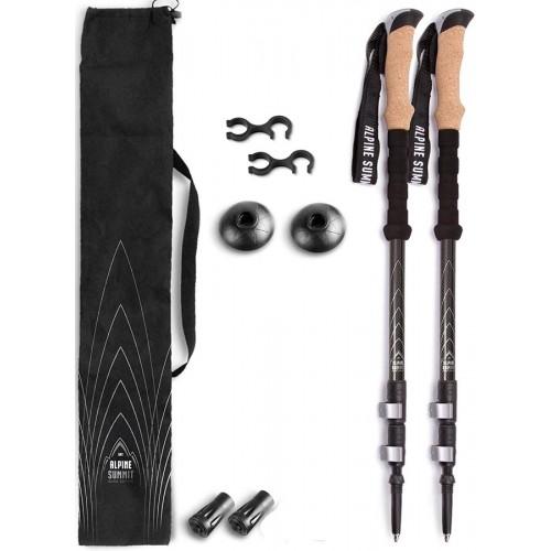 Американские треккинговые палки, ALPINE SUMMIT, цвет черный, 100% Carbon