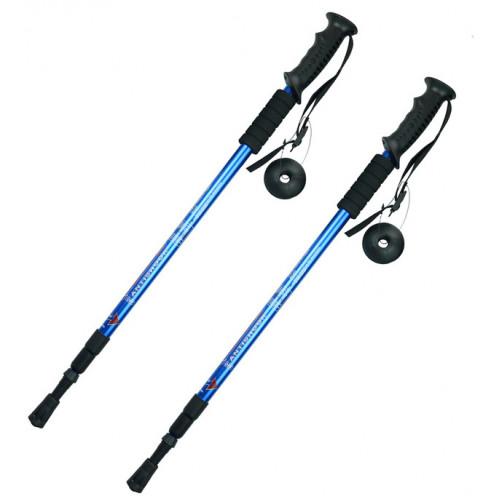 Альпенштоки, HIGHTREK, цвет синий, длина 65-135 см (пара), треккинговые палки