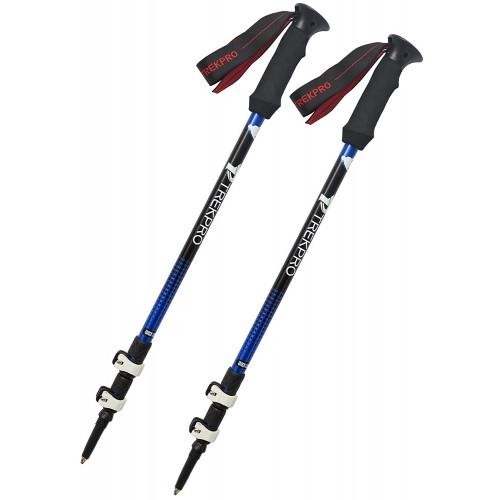 Trekpro Trekking Poles 7075 Aluminum, альпенштоки, цвет синий, 65-135см (пара)
