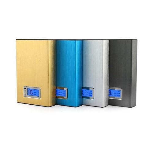 Power bank 11200mAh, переносная зарядка для смартфонов, цвет серебро, золотой, голубой и черный