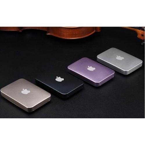Power bank 12000mAh, переносная зарядка для смартфонов, цвет серебро и черный