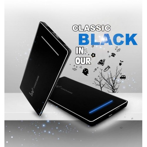 IWO P28S 5600mah power bank цвет черный, переносная зарядка для смартфонов