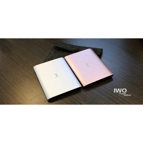 IWO P48 20000mah power bank, цвет серебро, переносная зарядка для смартфонов