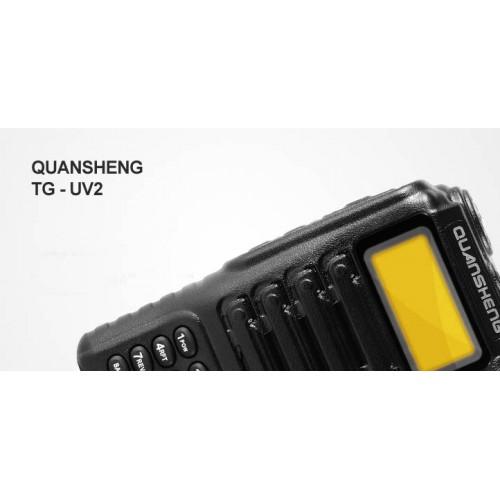 Радиостанция QUANSHENG TG-UV 2, UHF 400-470 Mhz, VHF 136-174 Mhz