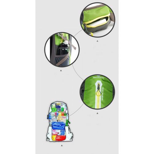Рюкзак Maleroads MLS9019-2, вместимость 35л, малахитовый зеленый, со спинкой из сетки на каркасе