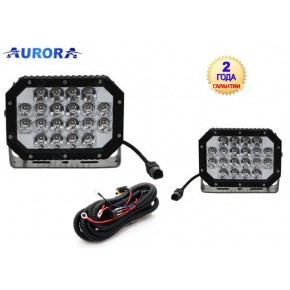 Комплект квадратных фар 2шт Aurora ALO-L-6-P7E7K, 100W, 18.6 см