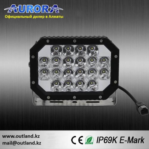 Комплект фар 2шт, Aurora ALO-L-6-P7E7K, 100W, 18см, ФАРА AURORA, Комбинированного белого света