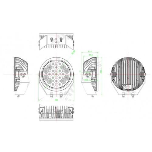 Фара Aurora ALO-R-5-C10K, 63W, Прожектор, круглые фары, Aurora лэд фары, Комплект фар 2шт,