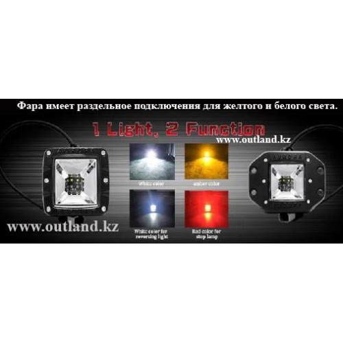 Aurora фара рабочего света (Белый + Желтый), ALO-E-2-E12KA, два режима света, Гарантия 2 года, Работаем 24/7