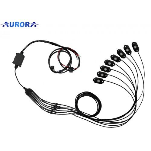 Светодиодная подсветка колесных арок и днища автомобиля, Aurora Rock Light, набор 6шт