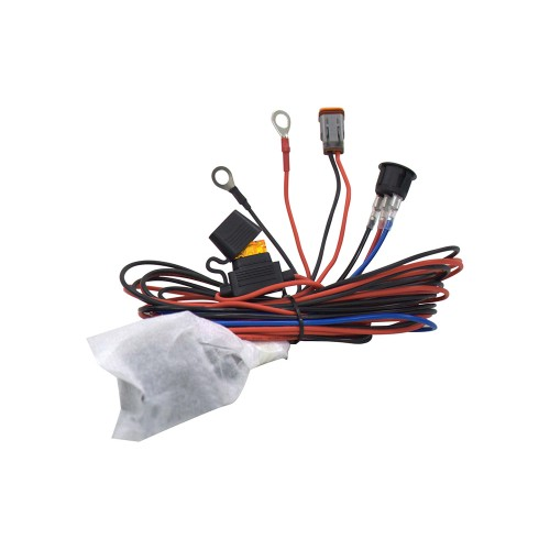 ALO-AW3  Комплект проводов с разъёмом, кнопкой, реле, предохранителем для фар 4 светодиода