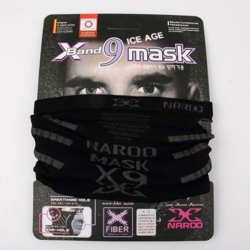 Бандана (бафф) Naroo X-band 9 mask Ice Age, цвет черный