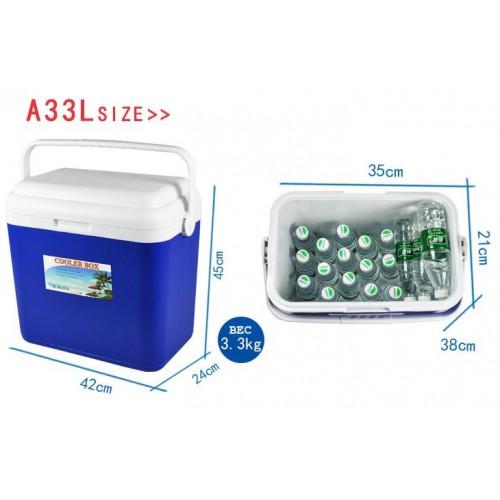Термобокс 33L, Coolerbox, Изотермический контейнер для хранения продуктов