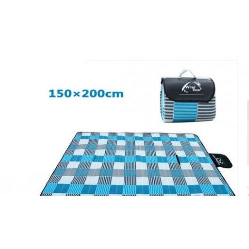 коврик для пикника 150*200, цвет голубой