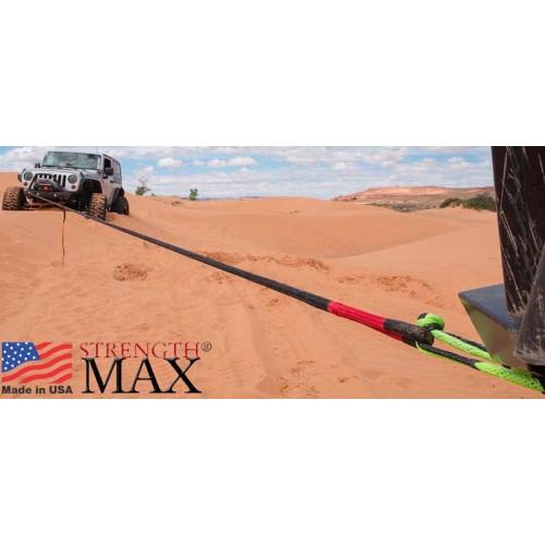 Трос динамический для внедорожников, длина 9 метров, нагрузка 8650кг, растяжение 30%, RD4WD8T