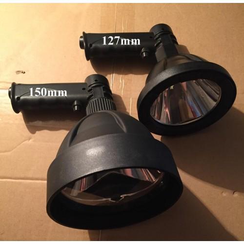 Прожектор со встроенным аккумулятором, Фонарь для Охоты и охраны, диаметр 150мм, дальность 350м,