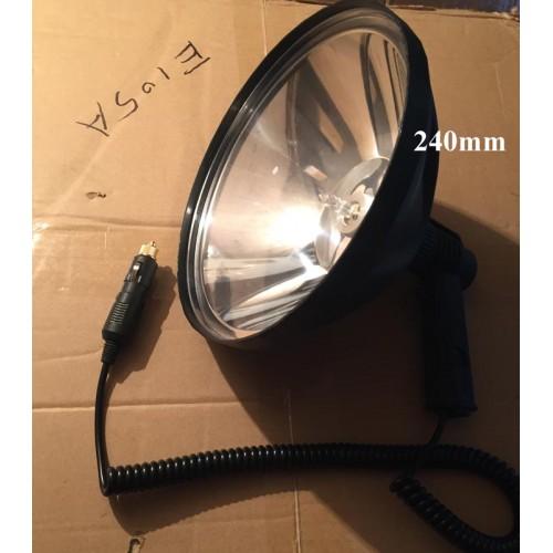 Фонарь Галогеновый, Прожектор для Охоты, диаметр отражателя 240мм