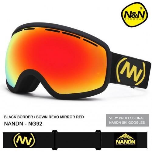 Горнолыжная маска детская NANDN NG92, оранжевая, маска для лыж и сноуборда