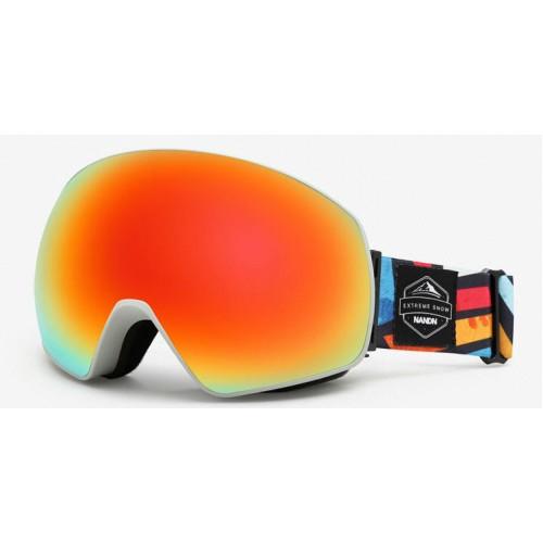 Маска NANDN NG8 оранжевая для лыж и сноуборда, Горнолыжные маски, очки - купить с доставкой