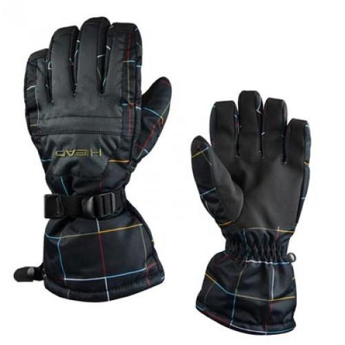Мужские горнолыжные перчатки Head, цвет черная сетка и фейерверк, размер XL