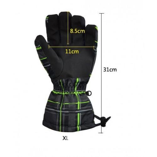 Мужские горнолыжные перчатки Spyder, цвет темно серый, размер XL
