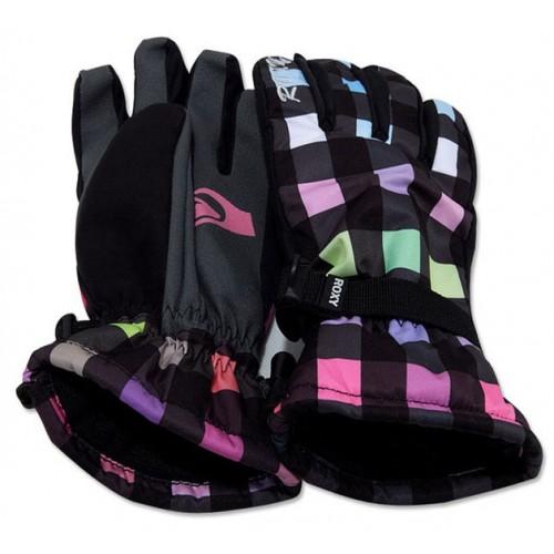 Женские лыжные сноубордические перчатки Roxy размер М, клетка