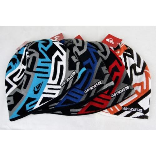 Зимняя шапка Quiksilver, цвет синий, голубой, красный