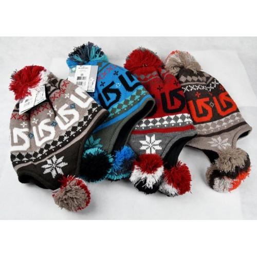 Зимняя женская шапка Burton, Цвет: красный фон, коричневый фон, серый фон, черный фон.