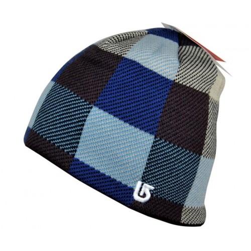 Зимняя шапка Burton, цвет черно-синий сетка
