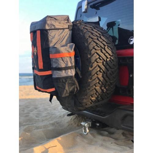 Чистый салон: сумка на запаску для грязного снаряжения, Сумка для вещей и мусора на запасное колесо