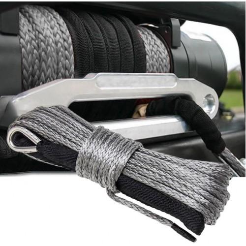 Кевлар трос синтетический для лебедки, 12мм*26м (готовый), трос кевларовый, Синтетический трос для лебедки